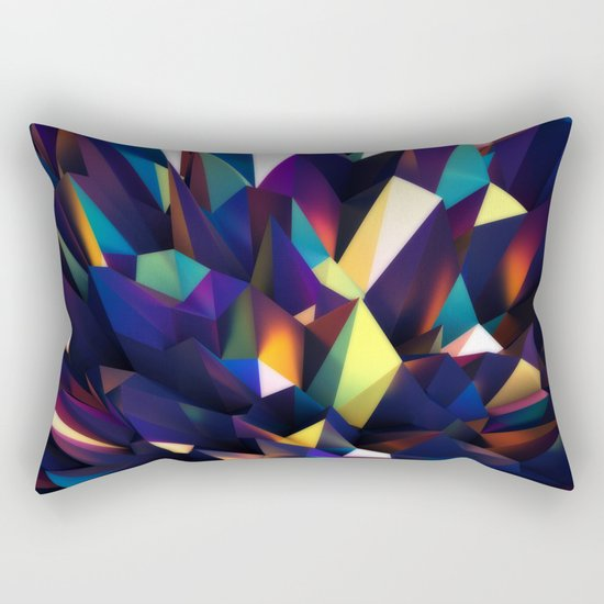 Low Iris Poly Rectangular Pillow