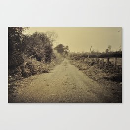 Lonely country lane, Ireland. Canvas Print