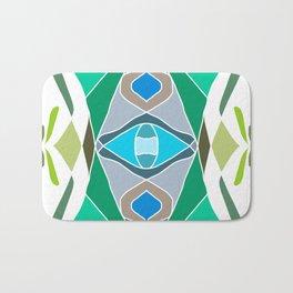 Symmetrical color mandala Bath Mat
