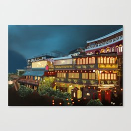 Tea house Juifen Canvas Print