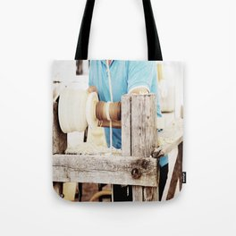 The artisan and the lathe Tote Bag
