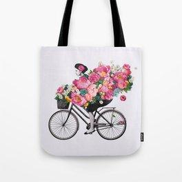 floral bicycle  Tote Bag