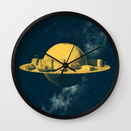 About space travels and living on Mars Wall Clock