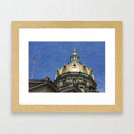 Iowa State Capitol Dome - Photography Framed Art Print