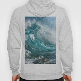 Epic Surf Impressionism Wall Art Print - Ocean Art Print, Modern Print, Beach Decor, Dorm Decor, Hoody