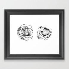 Two Roses for my Friends Framed Art Print