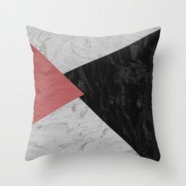 MARBLE TRIANGULES Throw Pillow