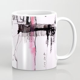 Nu in red stokings Coffee Mug
