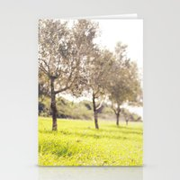 israel Stationery Cards featuring Olive trees heaven - Israel by Flame Leviosa