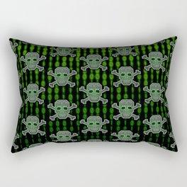 Hacker Skull Crossbones (pattern version) Rectangular Pillow