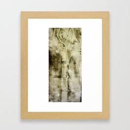 Western Work Shirt Brown Framed Art Print