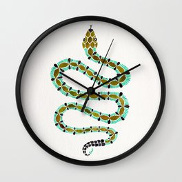 Turquoise Serpent Wall Clock