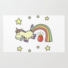 cute jump unicorn Rug