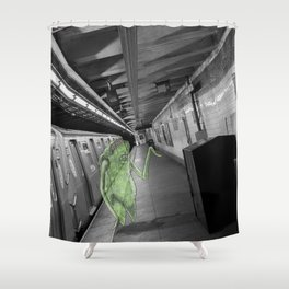 Unseen Monsters of New York - Umpteen Chunk Shower Curtain