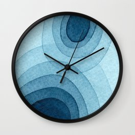 Blue One Wall Clock
