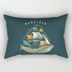 Whale | Petrol Grey Rectangular Pillow