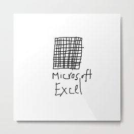 Microsoft Excel Metal Print