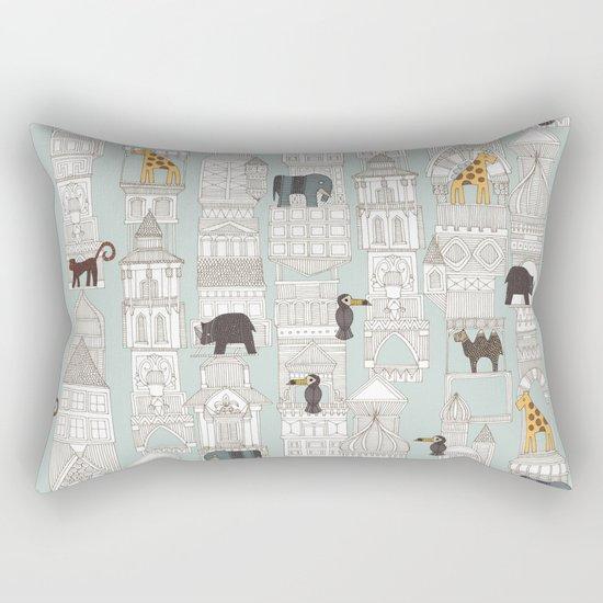 urban jungle silver mint Rectangular Pillow