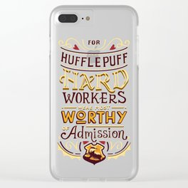 Hard Workers Clear iPhone Case