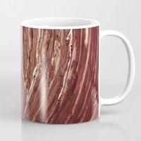 tree rings Mugs featuring Rings by Kathy Dewar