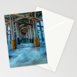 Long Exposure Under Newport Pier Stationery Cards