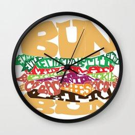 Word Drawing Burger Wall Clock
