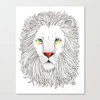 oana befort Canvas Prints featuring LION by Oana Befort