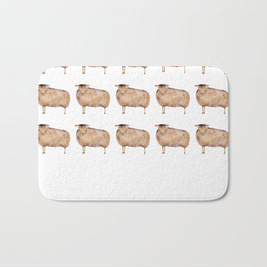 Fluffy sheep Bath Mat