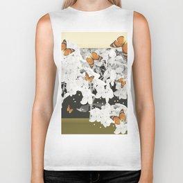 Hydrangea And Butterflies in Frame #decor #society6 Biker Tank