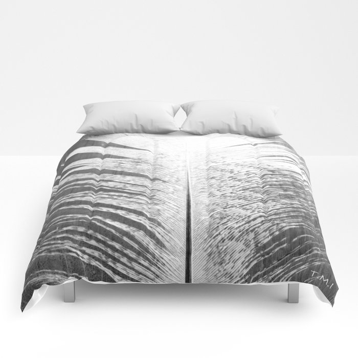 White and Grey Feather Comforters