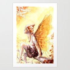 Autumn faery Art Print