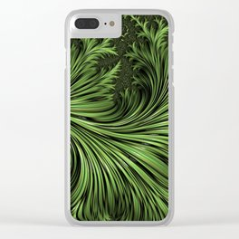 Fractal Art: Variegated Leaf Clear iPhone Case