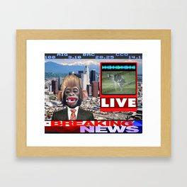 LIVE BREAKING NEWS Framed Art Print