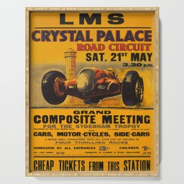 retro iconic Crystal Palace poster Serving Tray