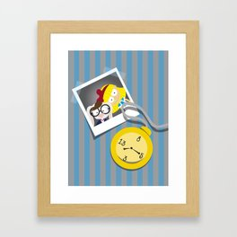 Alice and the clock Framed Art Print