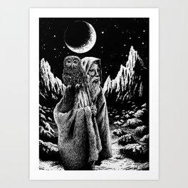 The Old Owl Man Art Print