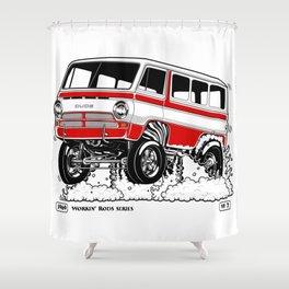 1969 GASSER VAN – Rev 2 RED Shower Curtain