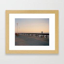 Pier Lookout Framed Art Print