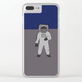Man on a planet Clear iPhone Case