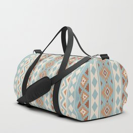 Aztec Essence Ptn IIIb Blue Crm Terracottas Duffle Bag