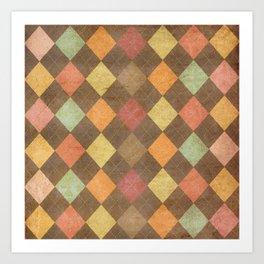 pattern grundgy Art Print