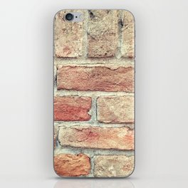 red wall iPhone Skin