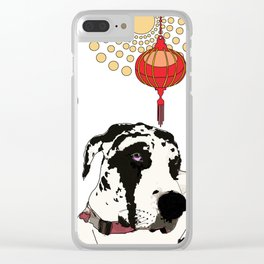 Year of the Dog - Great Dane Clear iPhone Case
