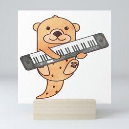 Sweet Otter Keyboard Piano Kids Music Gift Mini Art Print