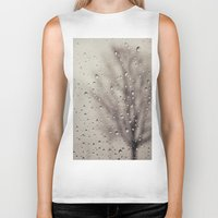 rain Biker Tanks featuring Rain  by Laura Ruth