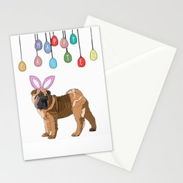 Happy Easter - Shar Pei Easter Bunny Stationery Cards