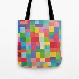 Mid-Century Modern Colorful Geometric Tote Bag