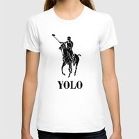 yolo T-shirts featuring YOLO by Farfalle