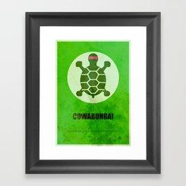 TMNT (Super Minimalist series) Framed Art Print