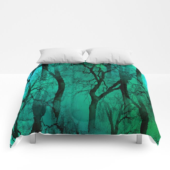 Glamour Trees (green) Comforters